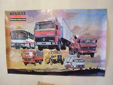Affiche , poster  CAMIONS  , BUS ,  RENAULT  20 000 exemplaires  garages