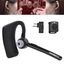 Walkie Talkie Bluetooth Headset Earpiece & Ptt Remote For Motorola 2-Way Radio