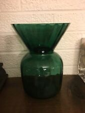 RARE!! Vintage Emerald Forest Green Pilgrim Glass Bouquet Large Vase