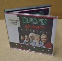 THE DUBLINERS 30 Years A-Greying 1992 UK 30-trk promo 2-CD Pogues Rory Gallagher