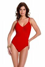 NEW MAGICSUIT MIRACLESUIT Size 16 Red SLIMMING SWIMSUIT $144 RV ROXY One Piece