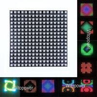 5V 16*16 Pixel WS2811 WS2812B LED FullColor Digital Flex Panel RGB Light Display