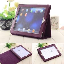 Faltbare Schutzhülle für Apple IPad 2/3/4 Tablet PC Magnetisch Tasche Cover Lila