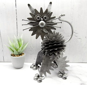 Metal Cat Ornament Statue Nuts Nails Bolts Figurine Art Sculpture Ornaments Gift