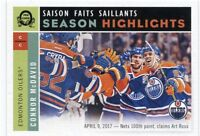 17/18 O-PEE-CHEE OPC RETRO SEASON HIGHLIGHTS #555 CONNOR MCDAVID OILERS *39511