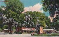 Postcard Mossy Oaks Motel Restaurant Eulonia GA