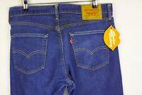 Mens LEVIS 510 Jeans SLIM SKINNY STRETCH Zip DARK Blue EXCELLENT W34 L32  P11