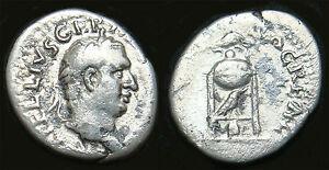 VITELLIUS Silver Denarius (Tripod-Lebes) Rome