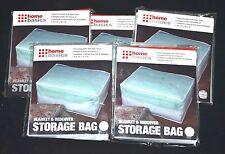 Wholesale Lot Of 5 Home Basics Peva Blanket & Bedcover Storage Bag Translucent