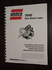 Ammco 7000 Brake Lathe Instruction Manual