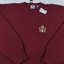0bbba1ee66 NWT Vintage GAP CREST Sweater Mens Size XL Heavy Cotton Knit UNWORN 90 s  2000 s