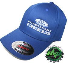 Ford Powerstroke hat ball cap fitted flex fit  flexfit stretch blue L/XL