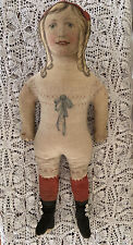 Rare Early 1900s Antique Art Fabric Mills Cloth Doll 24� Lithograph Excellent