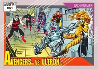 AVENGERS VS. ULTRON / Marvel Universe Series 2 (Impel 1991) BASE Card #114