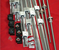 SBR16-350/450/550mm linear rail set+3 ballscrew RM1605+BK/BF12 end bearing CNC