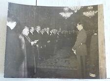 RARE PHOTO GENERAL DE GAULLE 1945 CORPS DIPLOMATIQUE NONCE RONCALLI (JEAN XXIII)