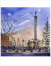 Trafalgar Square London GREETINGS CARD Steve Greaves Painting Art England Xmas