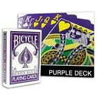 PURPLE REVERSE Bicycle deck of playing cards USPCC gold white magic trick gaff