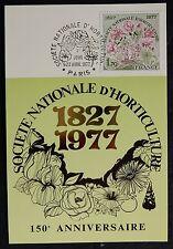 13H* CARTE 1er Jour FDC Société Nationale d'Horticulture 1977 (n°1930) Fleurs...