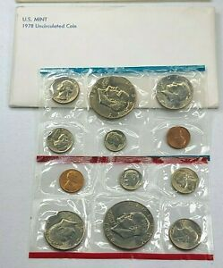 1978 US Mint P D Uncirculated 12 Coin Set ☆1 Set from Lot☆