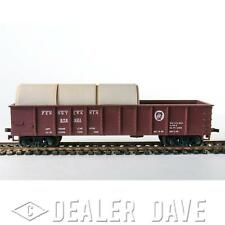 Dealer Dave HO SCALE TRAINS: 1950'S PENNSYLVANIA RR GONDOLA WITH LOAD (#253)