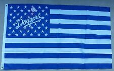 Los Angeles Dodgers flag Logo Stars & Stripes 3ftx5ft banner Blue/white American