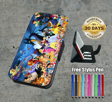 Disney All Characters Flip Leather Case Cover Wallet Stand Function