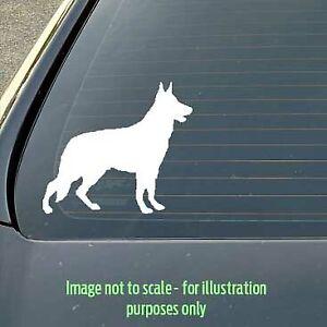120mm German Shepherd dog silhouette decal for a car / caravan / truck / toolbox
