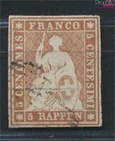 Schweiz 13I b geprüft gestempelt 1854 Strubeli (9045724