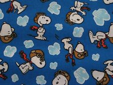 Snoopy Peanuts Red Baron Blue Clouds Fabric 12 Inches x 42 Inches