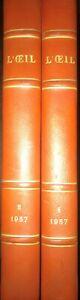 l'oeil revue d'art 1957 – 2 tomes reliés – n°25 a 36