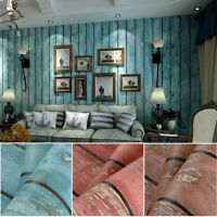 10M 3D Vintage Natural Realistic Wooden Waterproof Textured PVC Wallpaper Roll
