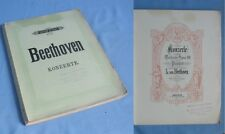 Les Cinq Concertos et la Fantaisie Op.80 de BEETHOVEN pour piano seul/ PETERS éd