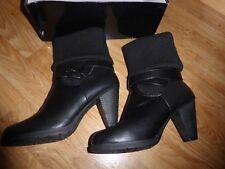 Wallis Black Ankle Boot Size 39 UK 6 'aran' Design