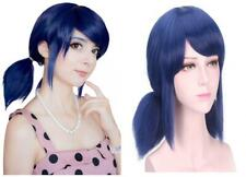 DAZCOS Marinette Wig for Girls Cosplay Blue Hair with Tails [