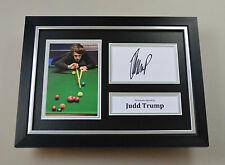 Judd Trump Signed A4 Photo Framed Snooker Memorabilia Autograph Display + COA