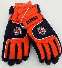 Cincinnati Bengals Youth 8-20 Ski Gloves by REEBOK