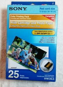 2 packs Sony Color Printing Pack Print Cartridge 25 Photo 4x6 Paper SVM-25LS New