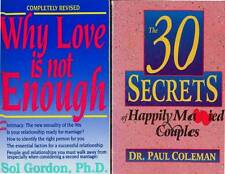 PAUL GORDON 2 BOOKS WHY LOVE IS NOT ENOUGH 30 SECRETS HAPPILY MARRIED COUPLES