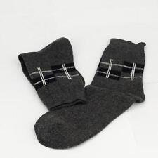 Winter Men Wool Blend Cross stripe Gray Casual Dress Socks Sports SZ 10-13 o7