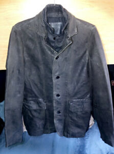 All Saints Leather Jacket Mens Small