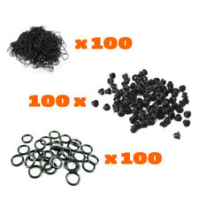 100 Color #12 TATTOO machine RUBBER BANDS 100 A-Bar Black Nipples grommets gun