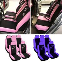 9PCS Butterfly Printed Car SUV Full Set Seat Cover Protector Cushion Universal