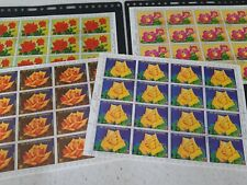 4 SHEETS OF ROSE POSTAGE STAMPS (C3)