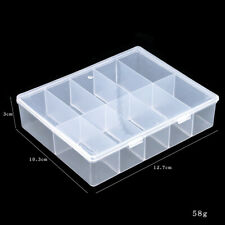 empty Plastic storage box case Nail art false tips gems crafts makeup jewellery