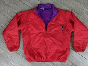 USA made PATAGONIA jacket GLISSADE pullover XL red purple 1995 vintage