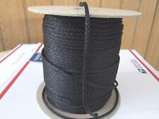 "# 5 5/32"" x 50 ft t Starter crank rope  Black  solid braid nylon Made N USA"