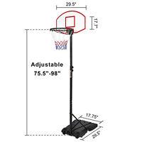 Height Adjustable Youth Kid Portable Basketball Hoop System w/ Wheels Backboard