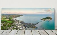 St Michaels Mount aerial view panoramic canvas print Cornwall framed picture