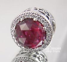DISNEY Beauty & Beast BELLE RADIANT ROSE Genuine PANDORA Silver/RED Charm NEW